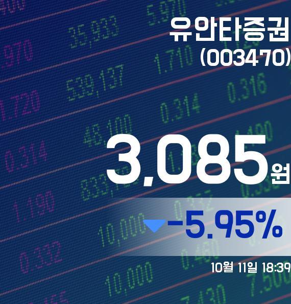 ▲10월 11일 유안타증권 의 주가정보