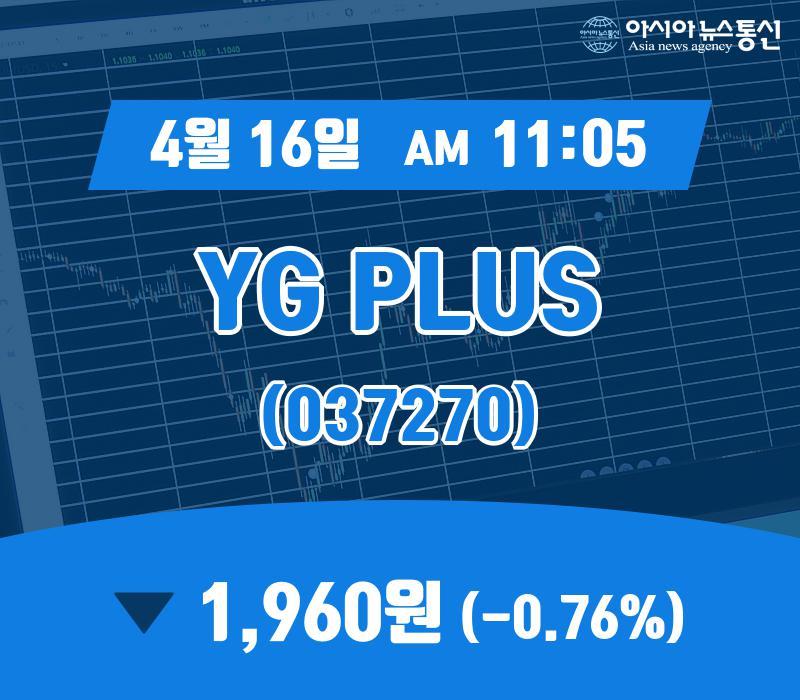 ▲4월 16일 YG PLUS 의 주가정보