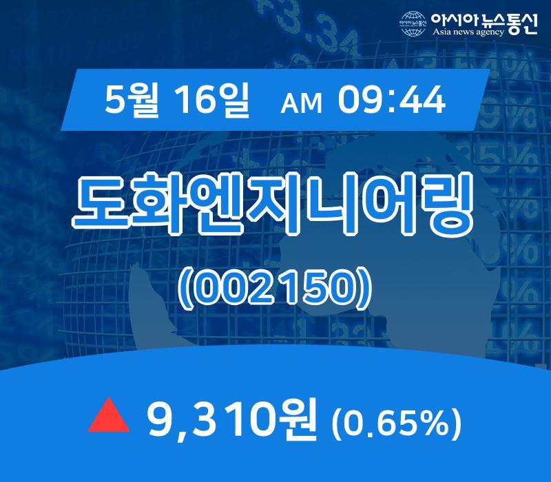 ▲5월 16일 도화엔지니어링 의 주가정보