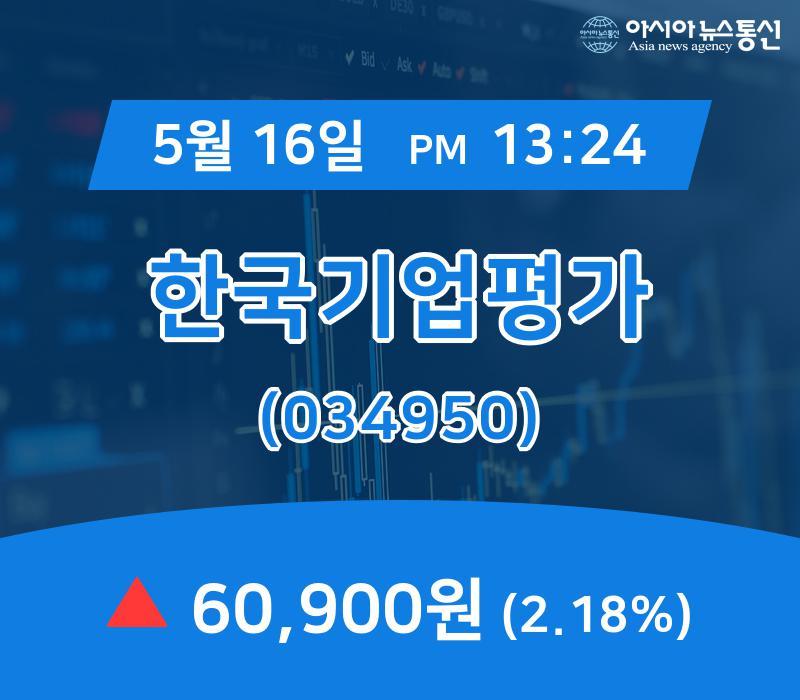 ▲5월 16일 한국기업평가 의 주가정보