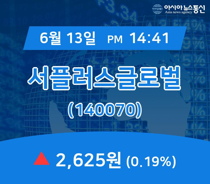 ▲6월 13일 서플러스글로벌 의 주가정보