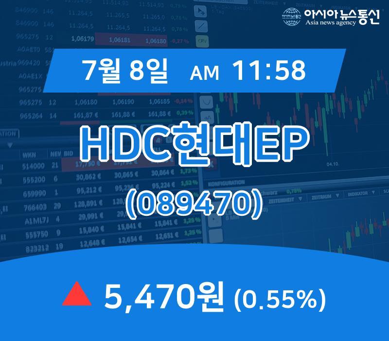 ▲7월 8일 HDC현대EP 의 주가정보