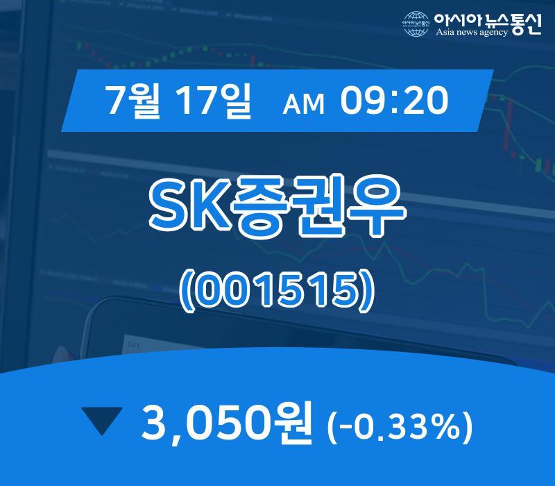 ▲7월 17일 SK증권우 의 주가정보