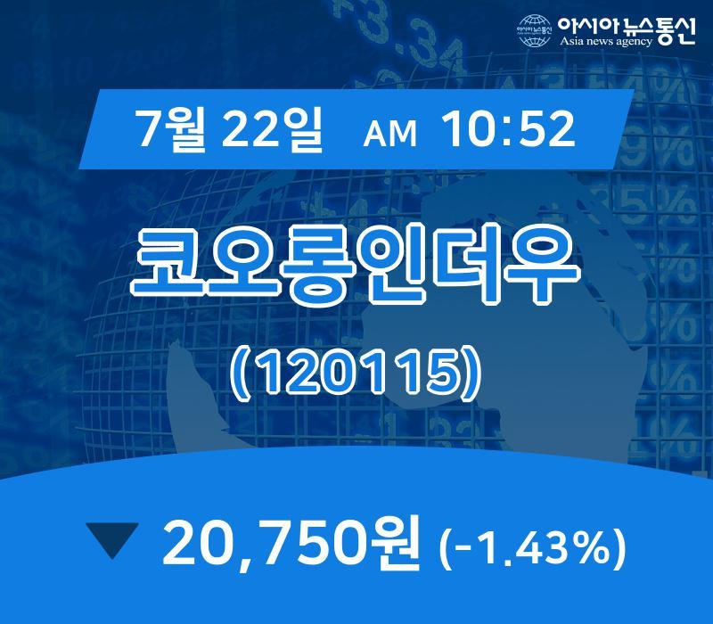 ▲7월 22일 코오롱인더우 의 주가정보