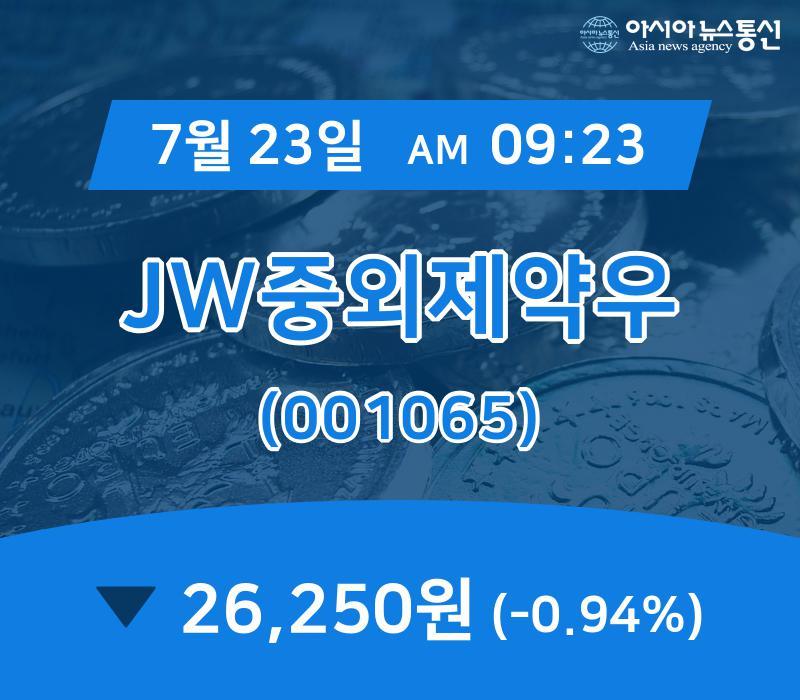 ▲7월 23일 JW중외제약우 의 주가정보