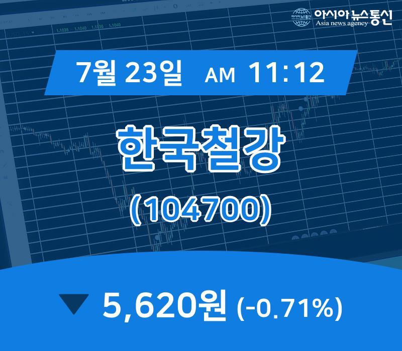 ▲7월 23일 한국철강 의 주가정보