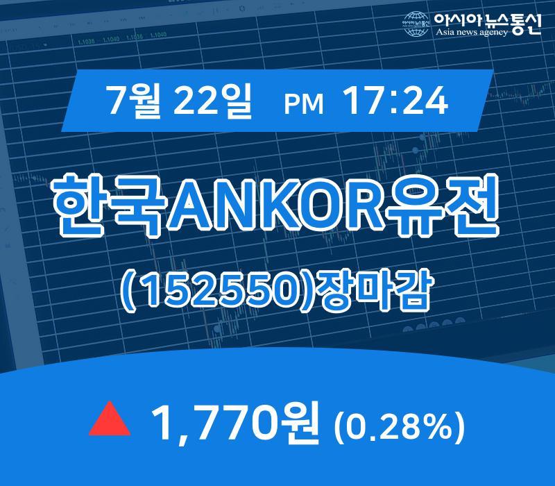 ▲7월 22일 한국ANKOR유전 의 주가정보